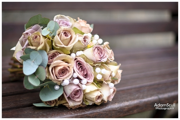 Bride's Bouquet on Bench