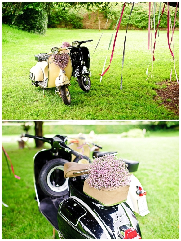 Vintage Mopeds at Wedding Shoot
